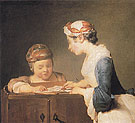 The Schoolmistress c1735 - Jean Simeon Chardin reproduction oil painting