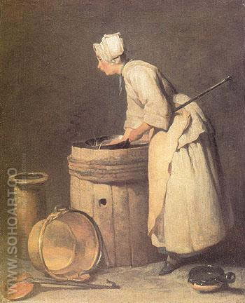 The Scullery Maid 1738 - Jean Simeon Chardin reproduction oil painting