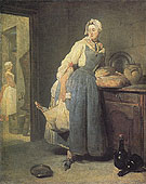 The Return from Market 1739 - Jean Simeon Chardin reproduction oil painting