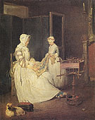 The Diligent Mother 1740 - Jean Simeon Chardin reproduction oil painting