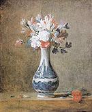 Carnations Tuberoses and Sweet Peas c1760 - Jean Simeon Chardin