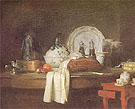 The Butlers Table 1756 - Jean Simeon Chardin