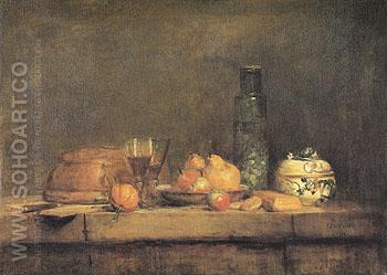 The Olive Jar 1760 - Jean Simeon Chardin reproduction oil painting