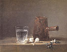 Glass of Water and a Coffee Pot 1760 - Jean Simeon Chardin reproduction oil painting