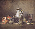 Grapes and Pomegranates 1763 - Jean Simeon Chardin reproduction oil painting