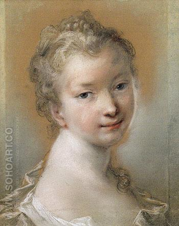 Portrait of a Young Girl 1708 - Rosalba Carriera reproduction oil painting