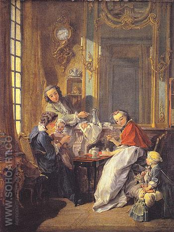 The Breakfast 1739 - Francois Boucher reproduction oil painting