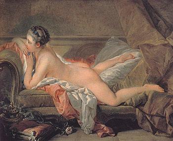 Portrait of Louise OMurphy 1752 - Francois Boucher reproduction oil painting