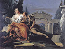 Rinaldo and Armida 1753 - Giovanni Barrista Tiepolo reproduction oil painting