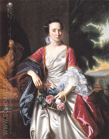 Portrait of Rebecca Boylston 1767 - John Singleton Copley reproduction oil painting