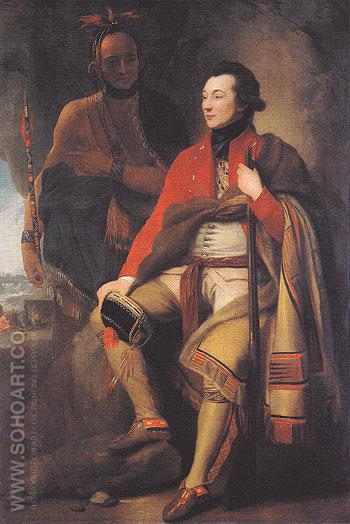 Colonel Guy Johnson and Captain David Hill 1776 - Benjamin West reproduction oil painting