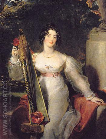 Portrait of Lady Elizabeth Conyngham c1821 - Sir Thomas Lawrence reproduction oil painting