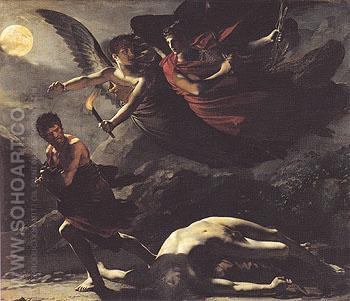 Justice and Divine Vengeance Pursuing Crime c1804 - Pierre Paul Prudhon reproduction oil painting