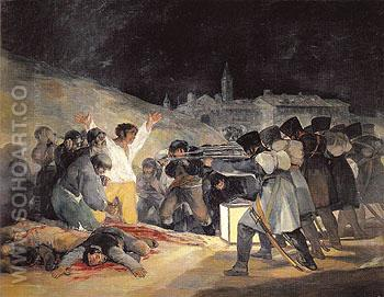 The Execution of the Rebels of 3 May 1808 1814 - Francisco de Goya ya Lucientes reproduction oil painting