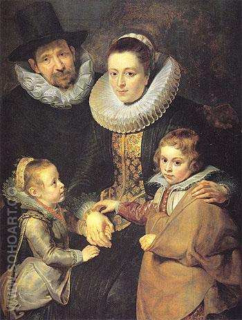 The Family of Jan Breugel the Elder c1612 - Peter Paul Rubens reproduction oil painting