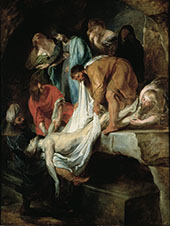 The Entombment c1615 - Peter Paul Rubens reproduction oil painting