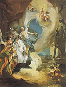 St Aloysius Gonzaga in Glory c1726 - Giovanni Barrista Tiepolo reproduction oil painting