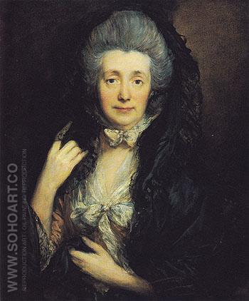 Margaret Burr Mrs Gainsborough c1779 - Thomas Gainsborough reproduction oil painting