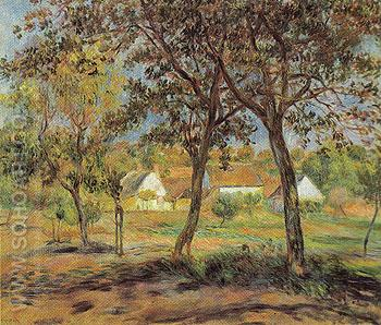 The Outskirts of Pont Aven c1888 - Pierre Auguste Renoir reproduction oil painting