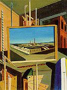 Metaphysical Interior with Large Building 1916 - Giorgio de Chirico