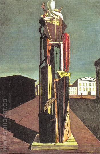 The Great Metaphysician 1917 - Giorgio de Chirico reproduction oil painting