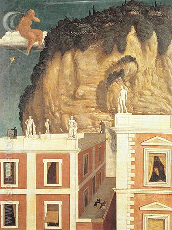 Roman Villa 1922 - Giorgio de Chirico reproduction oil painting
