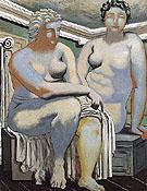 Two Seated Nudes 1926 - Giorgio de Chirico