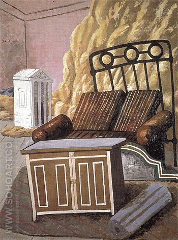 Furniture in a Room 1927 - Giorgio de Chirico reproduction oil painting