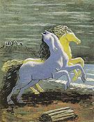 Two Horses by the Sea 1926 - Giorgio de Chirico