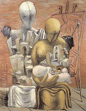 The Painters Family 1926 - Giorgio de Chirico reproduction oil painting