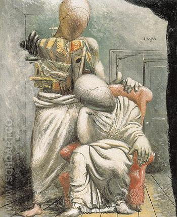 The Poet and His Muse c1925 - Giorgio de Chirico reproduction oil painting