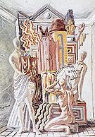 Constructors of Trophies c1928 - Giorgio de Chirico reproduction oil painting