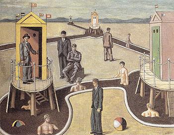 The Mysterious Baths c1934 - Giorgio de Chirico reproduction oil painting