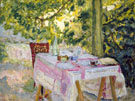 Table Set in a Garden 1908 - Pierre Bonnard reproduction oil painting