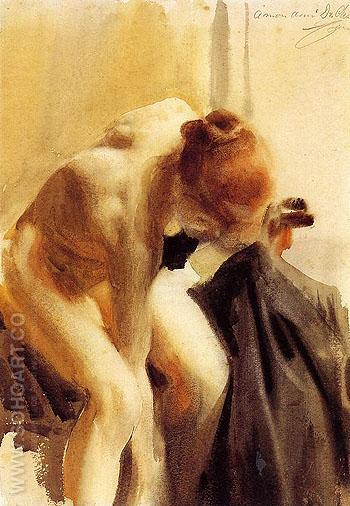 A Female Nude - Anders Zorn reproduction oil painting