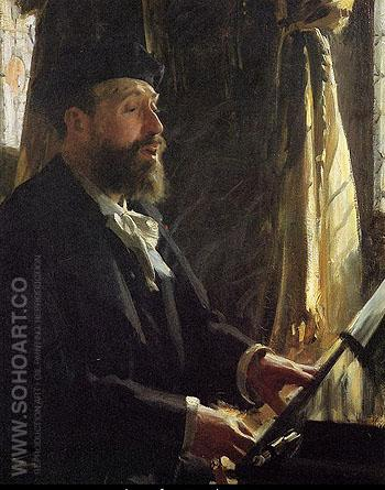 A Portrait of Jean Baptiste Faure - Anders Zorn reproduction oil painting