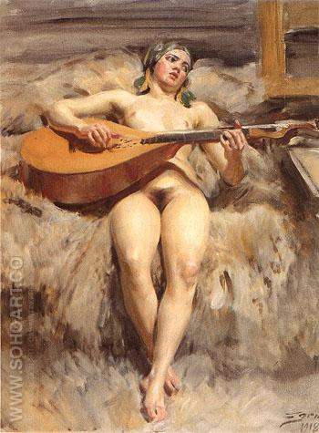 Studio Idyll 1918 - Anders Zorn reproduction oil painting