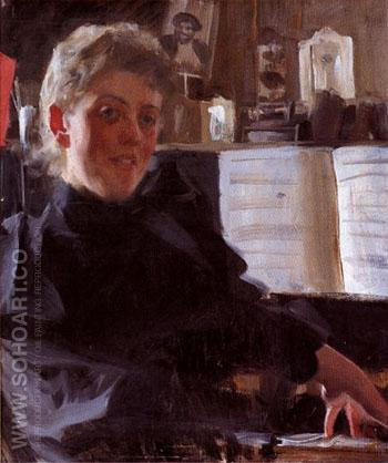 Augusta Gran 1891 - Anders Zorn reproduction oil painting