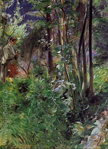 A Woman in a Forest - Anders Zorn reproduction oil painting