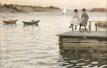 Boat Race 1886 - Anders Zorn reproduction oil painting