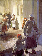 Christmas Morning Service - Anders Zorn