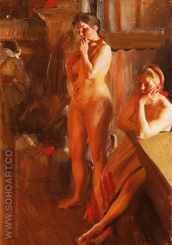 Eldsken - Anders Zorn reproduction oil painting