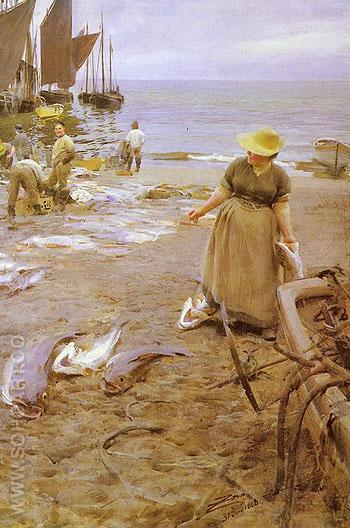 Fiskmarknad I St Ives - Anders Zorn reproduction oil painting