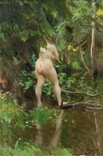 Flood Oversvamning - Anders Zorn reproduction oil painting