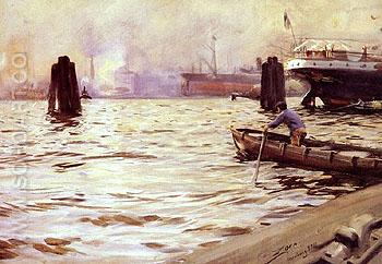 Hamburgs Hamn - Anders Zorn reproduction oil painting