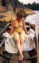 I Werners Eka In Werners Rowing Boat 1917 - Anders Zorn