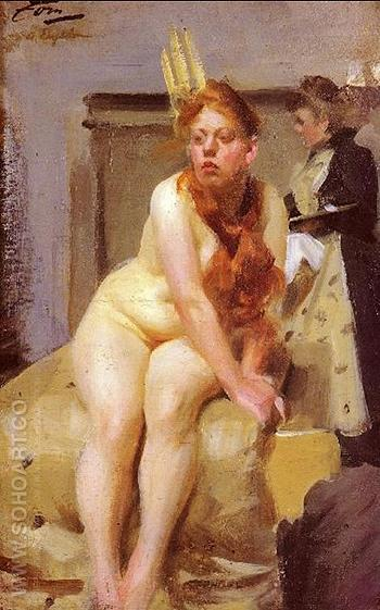 I Ateljen - Anders Zorn reproduction oil painting