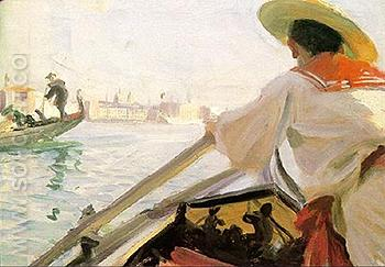 In my Gondola - Anders Zorn reproduction oil painting