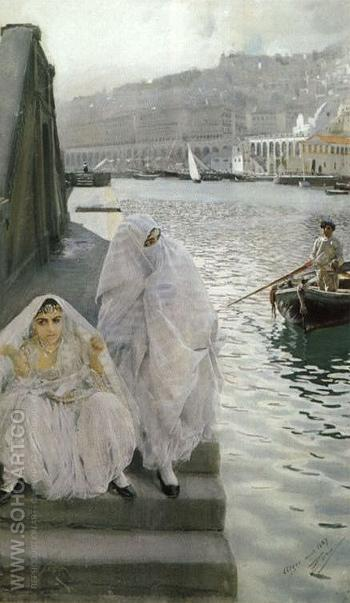 In the Harbour of Algiers 1887 - Anders Zorn reproduction oil painting