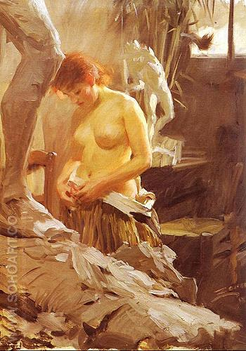 I Wikstroms Atelje - Anders Zorn reproduction oil painting